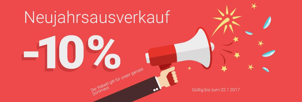 Neujahrsausverkauf - sparen Sie 10% auf alle Produkte!