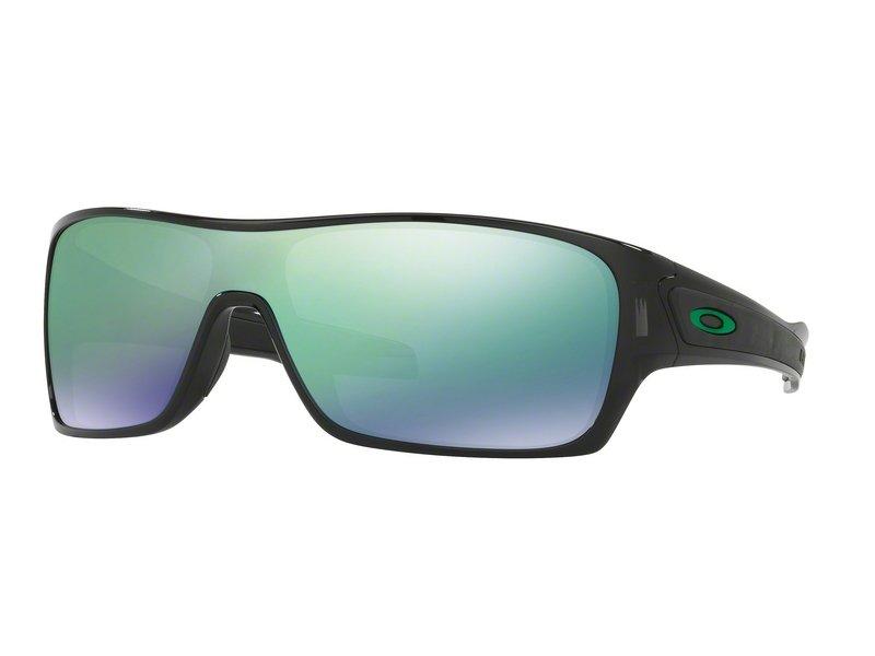 Oakley Herren Sonnenbrille »TURBINE ROTOR OO9307«, schwarz, 930704 - schwarz/grün