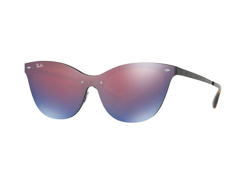 RAY BAN RAY-BAN Damen Sonnenbrille »Blaze Cat Eye RB3580N«, lila, 153/7V - lila/ rot