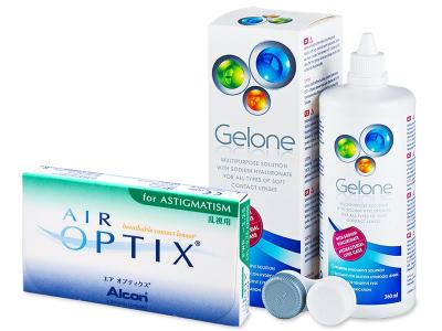 Air Optix for Astigmatism (6 Linsen) +  Gelone 360ml - Älteres Design