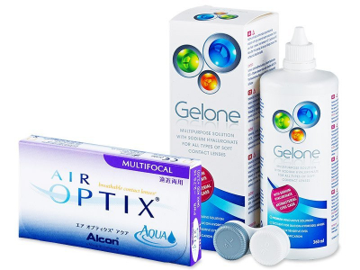 Air Optix Aqua Multifocal (6 Linsen) +  Gelone 360ml - Älteres Design