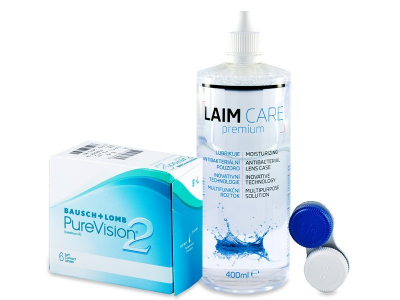 PureVision 2 (6 Linsen) +  Laim Care 400ml