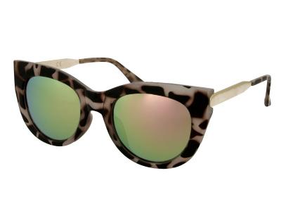 Damen Sonnenbrille Alensa Cat Eye Havana Pink Mirror