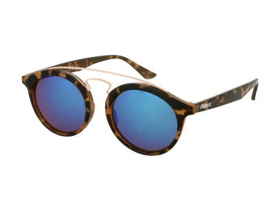 Kinder Sonnenbrille Alensa Panto Havana Blue Mirror