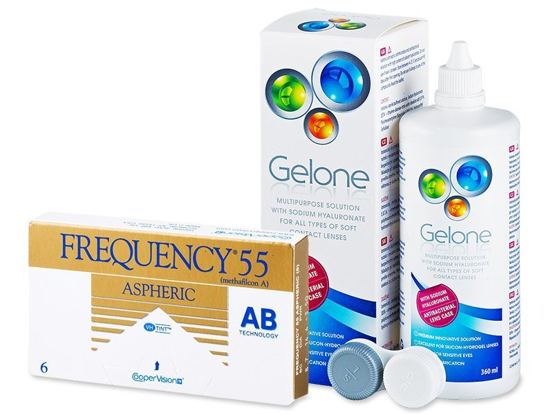 Frequency 55 Aspheric (6 Linsen) + Gelone 360ml - Spar-Set