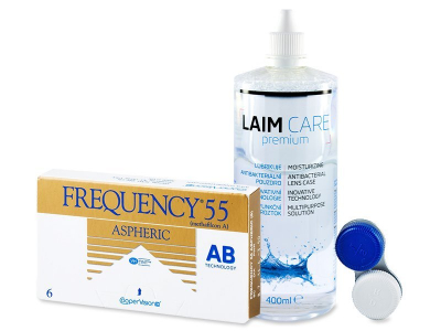 Frequency 55 Aspheric (6 Linsen) +  Laim Care 400ml