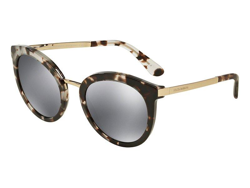 Dolce and Gabbana DG4268 Sonnenbrille Tortoise und Gold 28886G 52mm RVLdrtS
