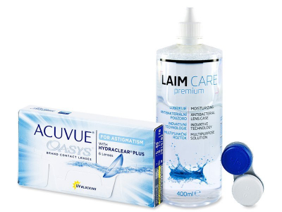 Acuvue Oasys for Astigmatism (6 Linsen) + Laim Care 400ml