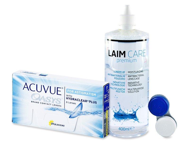 Acuvue Oasys for Astigmatism (6 Linsen) +Laim Care400ml - Spar-Set