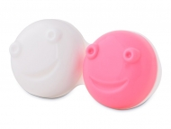 Kontaktlinsen-Etuis mit Spiegel - Ersatzgehäuse für vibrierenden Linsen-Behälter - rosa