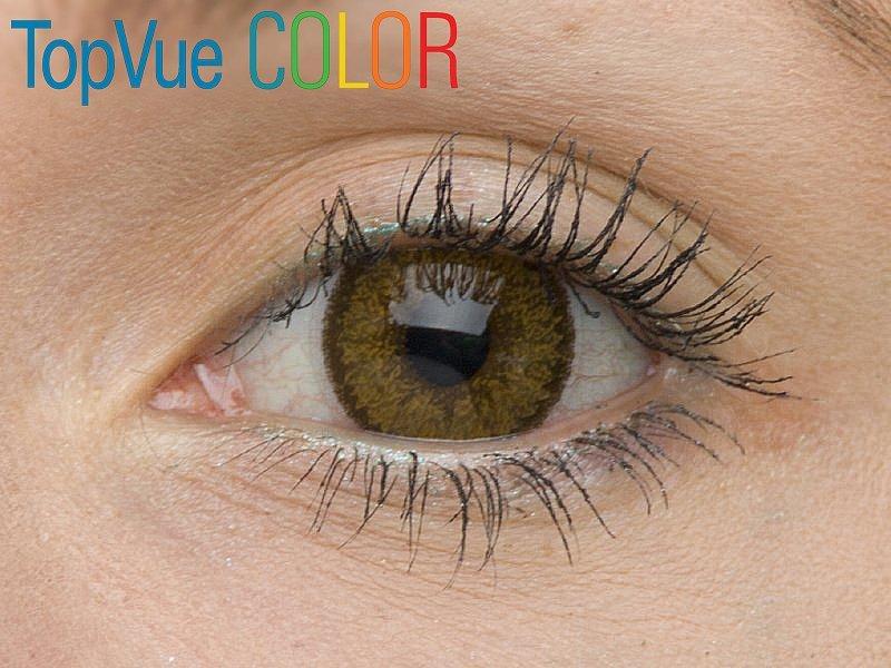 """TopVue Color - ohne Stärke (2Linsen) - """"Hazel"""" bei einer braunen Augenfarbe"""
