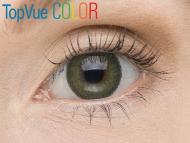 """TopVue Color - ohne Stärke (2Linsen) - """"Green"""" bei einer braunen Augenfarbe"""