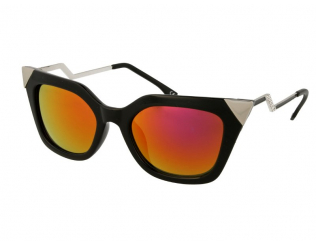 Cat Eye Sonnenbrillen - Damen Sonnenbrille Alensa Cat Eye Shiny Black Mirror