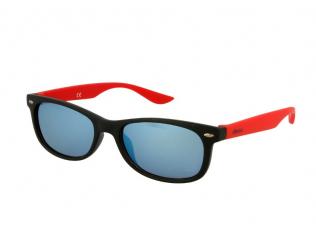 Wayfarer Sonnenbrillen - Kinder Sonnenbrille Alensa Sport Black Red Mirror