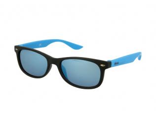 Wayfarer Sonnenbrillen - Kinder Sonnenbrille Alensa Sport Black Blue Mirror