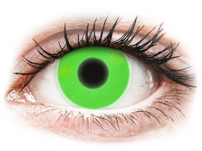 ColourVUE Crazy Glow Green - ohne Stärke (2Linsen)