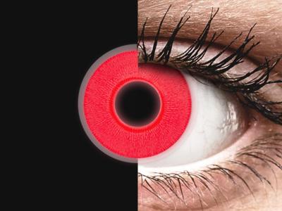 ColourVUE Crazy Glow Red - ohne Stärke (2Linsen)