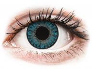 Blaue Kontaktlinsen mit Stärke - TopVue Color Tageslinsen - Blue - mit Stärke (10Linsen)