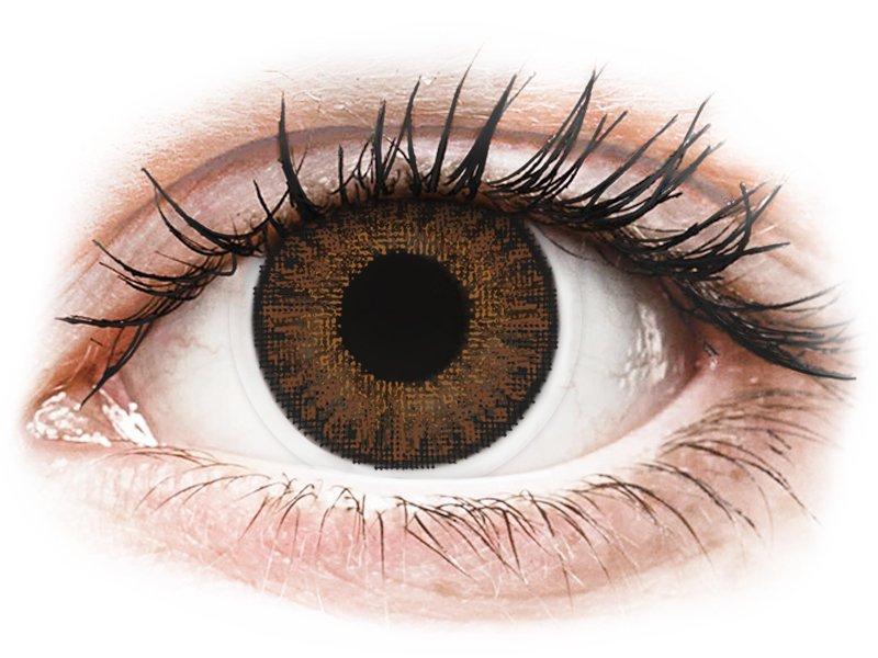 TopVue Color Tageslinsen - Brown - ohne Stärke (10Linsen) - Farblinsen