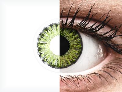 TopVue Color Tageslinsen - Fresh green - mit Stärke (10Linsen)