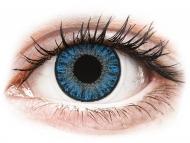 Blaue Kontaktlinsen mit Stärke - TopVue Color Tageslinsen - Sapphire Blue - mit Stärke (10Linsen)