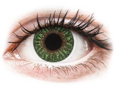 TopVue Color - Green - mit Stärke (2 Linsen)