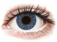 Blaue Kontaktlinsen mit Stärke - TopVue Color - True Sapphire - mit Stärke (2Linsen)