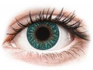 Blaue Kontaktlinsen mit Stärke - TopVue Color - Turquoise - mit Stärke (2 Linsen)
