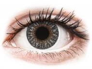 Graue Kontaktlinsen ohne Stärke - TopVue Color - Grey - ohne Stärken (2 Linsen)