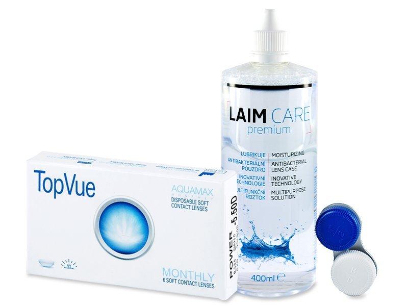TopVue Monthly (6Linsen) + Laim Care 400 ml - Spar-Set