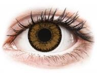 Farblinsen - Dioptrisch, Braun - SofLens Natural Colors India - mit Stärke (2 Linsen)