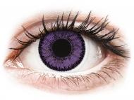 Farblinsen - Nicht dioptrisch, Lila - SofLens Natural Colors Indigo - ohne Stärken (2 Linsen)