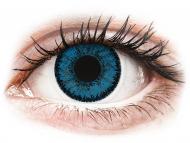 Farblinsen - Nicht dioptrisch, Blau - SofLens Natural Colors Topaz - ohne Stärken (2 Linsen)