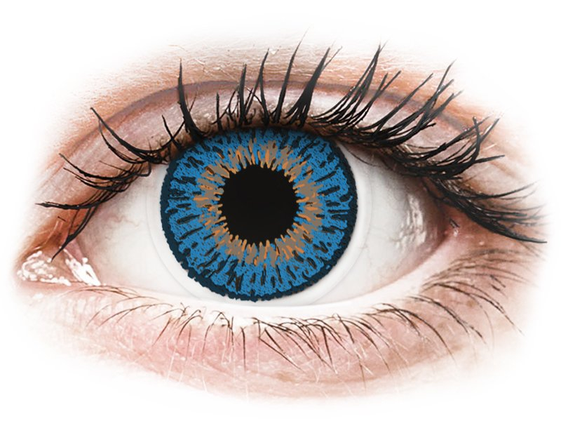 Expressions Colors Dark Blue - mit Stärke (1 Linse) - Farblinsen