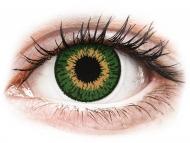 Orangefarbene Kontaktlinsen mit Stärke - Expressions Colors Green - mit Stärke (1 Linse)