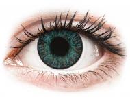 Blaue Kontaktlinsen mit Stärke - FreshLook ColorBlends Brilliant Blue - mit Stärke (2 Linsen)