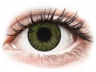 Grüne Kontaktlinsen ohne Stärke - FreshLook ColorBlends Green - ohne Stärken (2 Linsen)