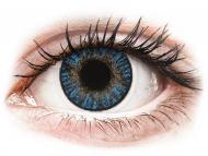 Blaue Kontaktlinsen mit Stärke - FreshLook ColorBlends True Sapphire - mit Stärke (2 Linsen)