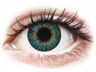 Blaue Kontaktlinsen mit Stärke - FreshLook ColorBlends Turquoise - mit Stärke (2 Linsen)