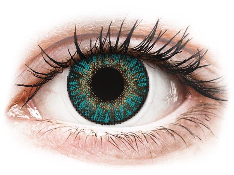 FreshLook ColorBlends Turquoise - mit Stärke (2 Linsen) - Farblinsen