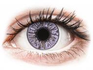 Rosafarbene Kontaktlinsen mit Stärke - FreshLook Colors Violet - mit Stärke (2 Linsen)