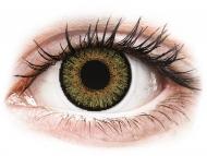 Grüne Kontaktlinsen mit Stärke - FreshLook One Day Color Pure Hazel - mit Stärke (10 Linsen)