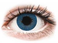 Blaue Kontaktlinsen mit Stärke - FreshLook Dimensions Pacific Blue - mit Stärke (6 Linsen)
