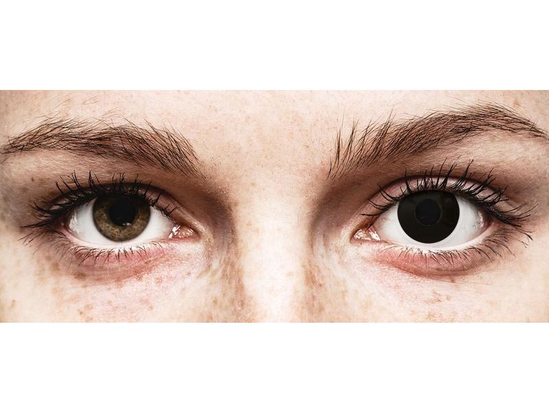 ColourVUE Crazy Lens - Blackout - Tageslinsen ohne Stärken (2 Linsen)