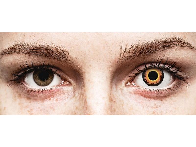 ColourVUE Crazy Lens - Orange Werewolf - Tageslinsen ohne Stärken (2 Linsen)