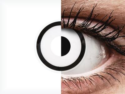 ColourVUE Crazy Lens - White Zombie - Tageslinsen ohne Stärken (2 Linsen)
