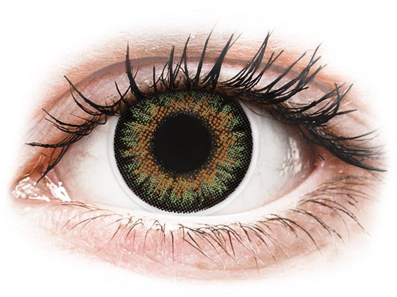 ColourVue One Day TruBlends Green - mit Stärke (10 Linsen) - Farblinsen