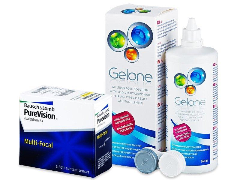 PureVision Multi-Focal (6 Linsen) + Gelone 360 ml - Spar-Set