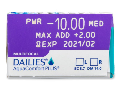 Dailies AquaComfort Plus Multifocal (30Linsen) - Vorschau