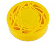 Kontaktlinsen-Etuis mit Spiegel - Kontaktlinsen-Etui - Ornament gelb